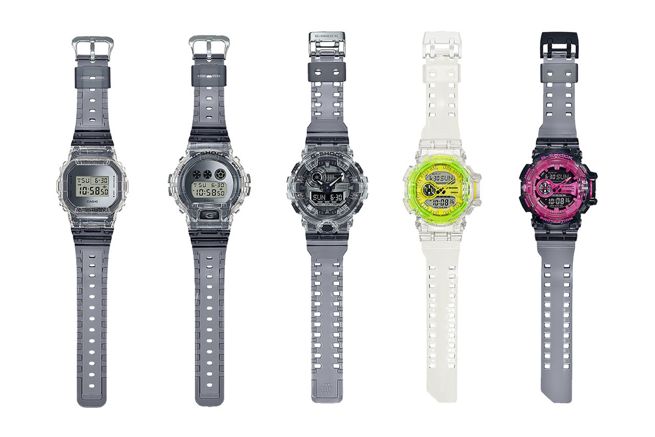 g shock transparent watch collection