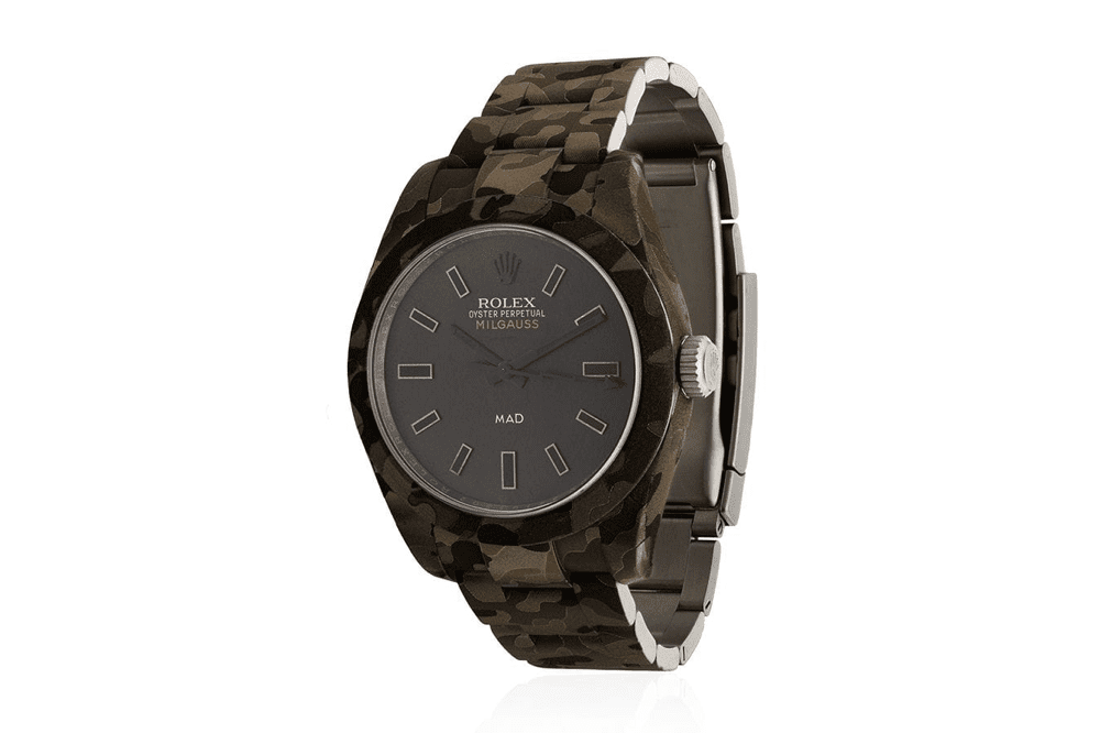mad paris rolex milgauss camo watch