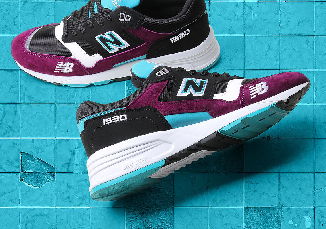 new balance  purple teal