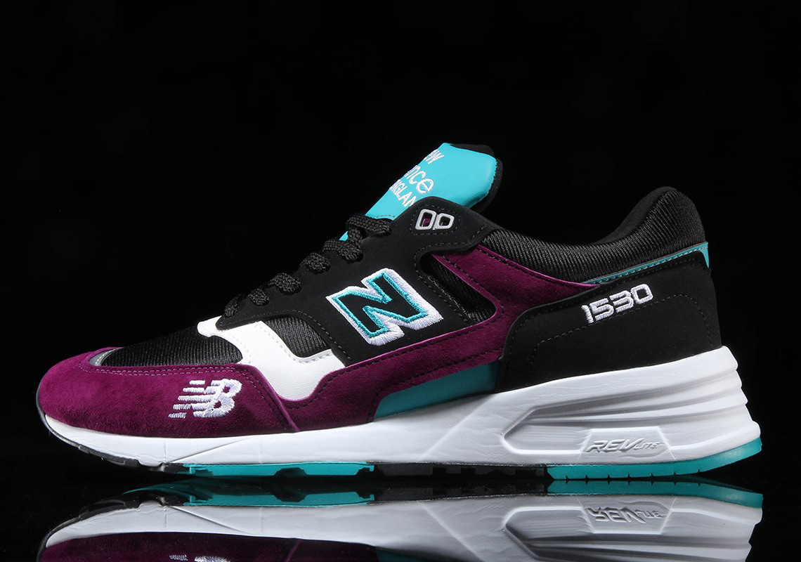 timeless design b17e4 7d54b The NB 1530 silhouette has an interesting structure, being that it combines  the 1500 upper with the 997 midsole. The aforementioned hits of purple are  ...