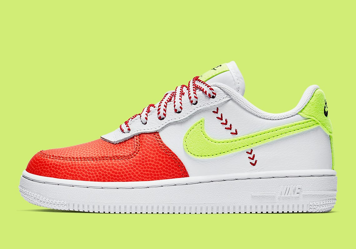 best cheap 31ffe 0e55e This sports-inspired Nike Air Force 1 Low colorway seen here is exclusive  to kids sizes, so lace the smaller ones in your life right now by copping a  pair ...