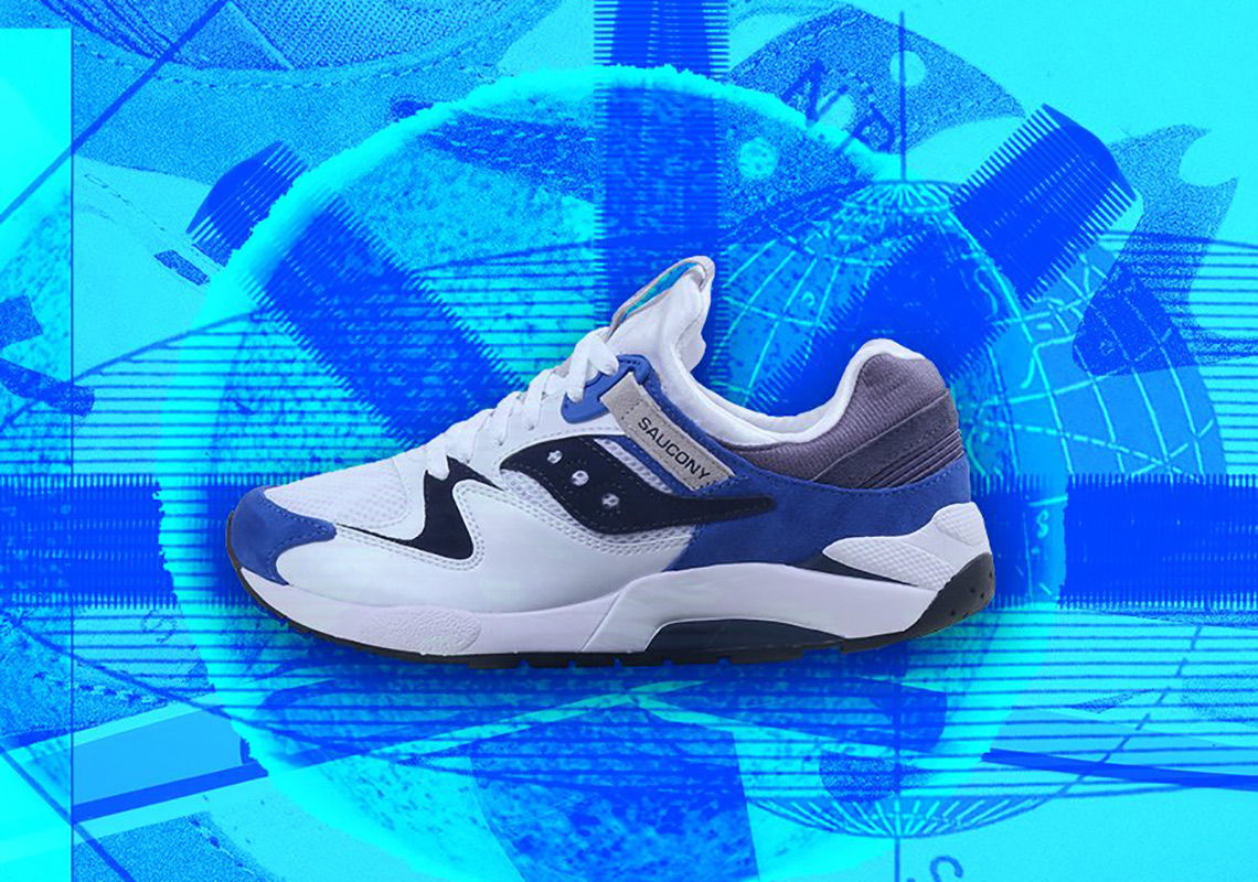 brand new 45589 ba850 Saucony Gives the Grid 9000 a Clean Royal Blue Treatment