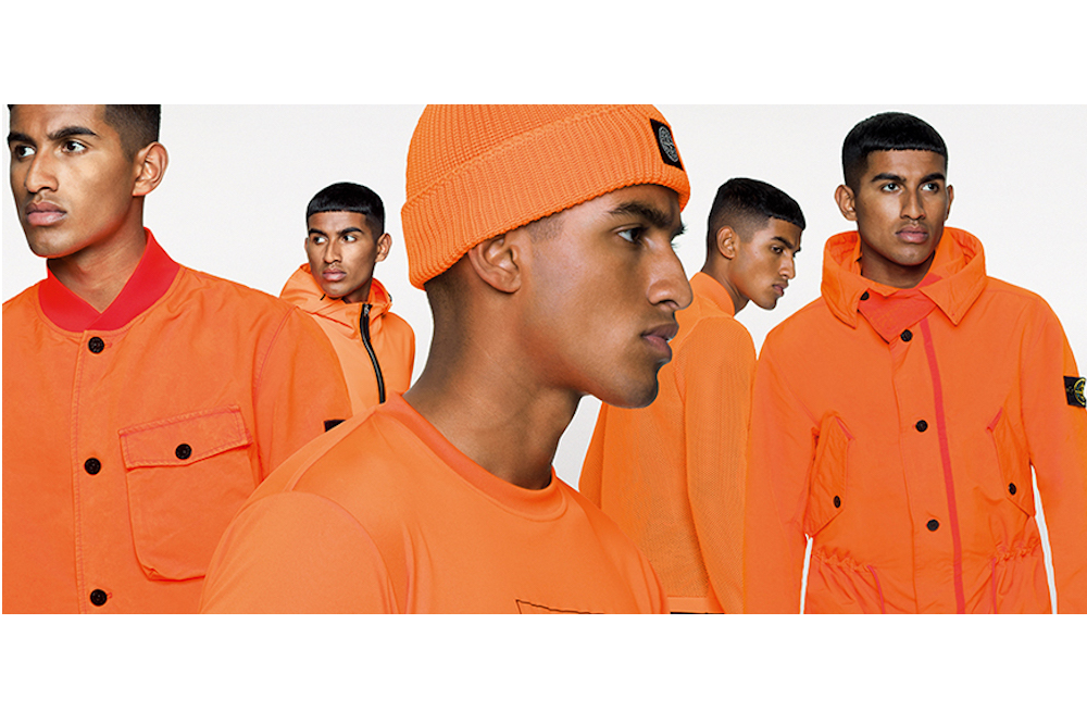 stone island ss fluo orange collection