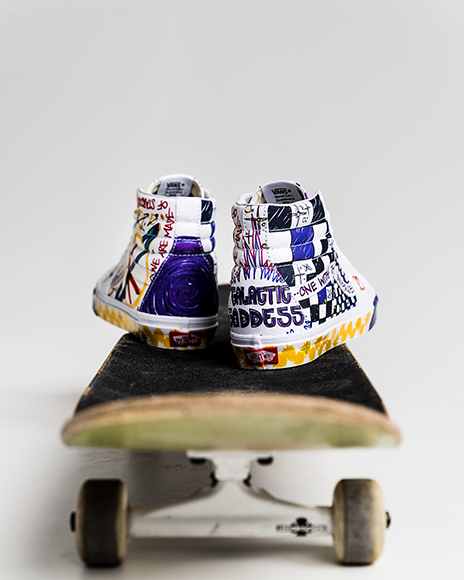 6baeacfd7bd81 Vans Reworks the Sk8-Hi in Art School Vibes With New