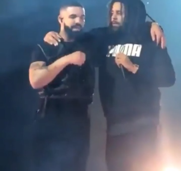 Drake Gives J. Cole His Flowers On Stage