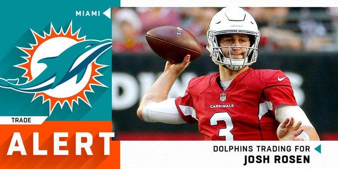 e09ab7fc Cardinals Trade Josh Rosen to Dolphins After Drafting Kyler Murray