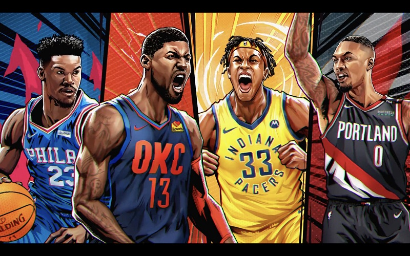 Jimmy Butler Paul George Myles Turner Damian Lillard