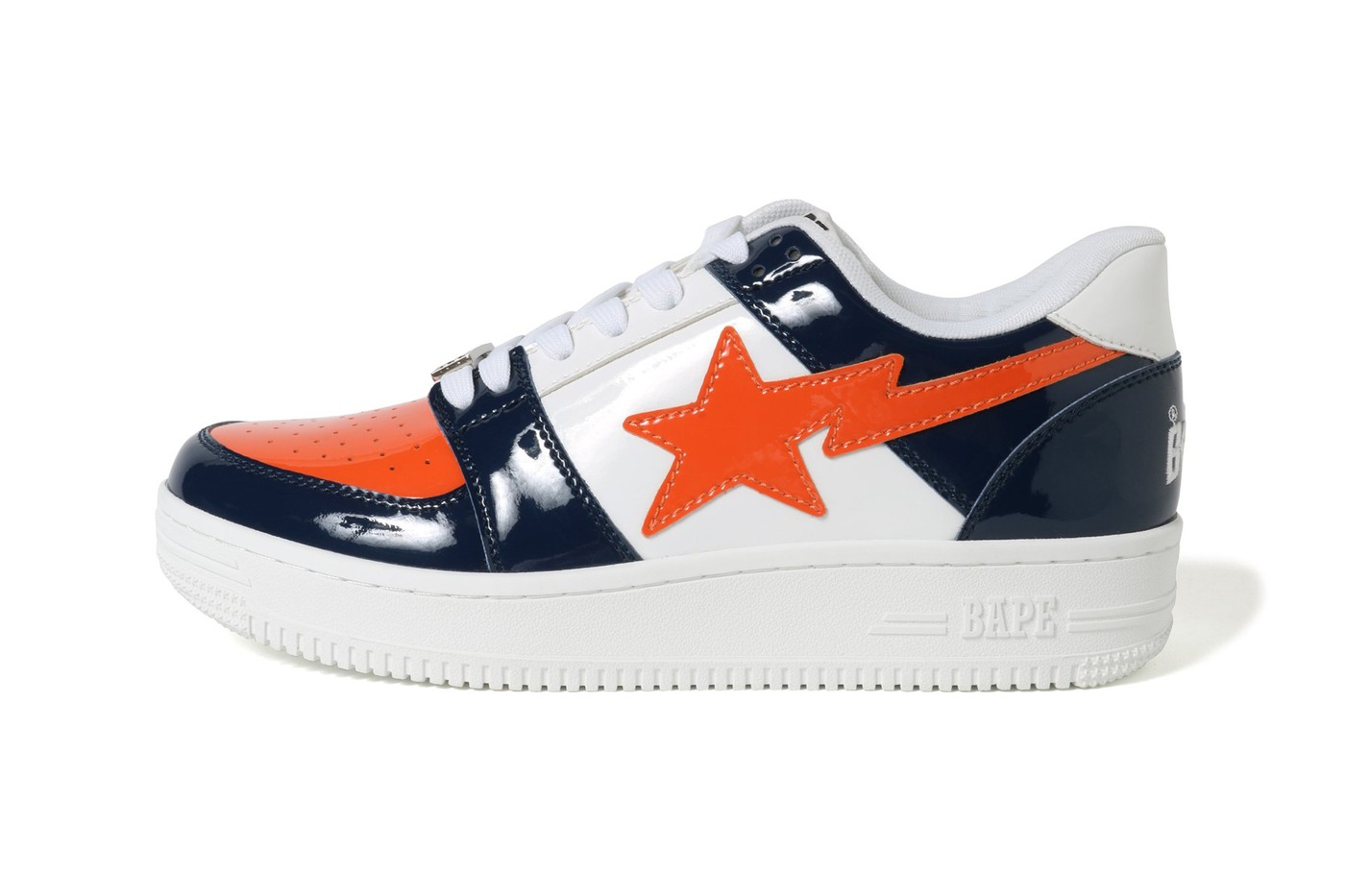 57e82ec6ce835 The patent leather color options in this roundup include a standout  orange/navy combo that might remind you of NYC sports, a red, green and  white option ...