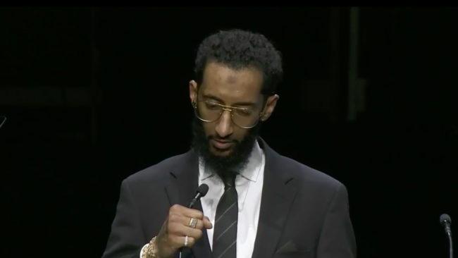 nipsey hussle brother memorial speech