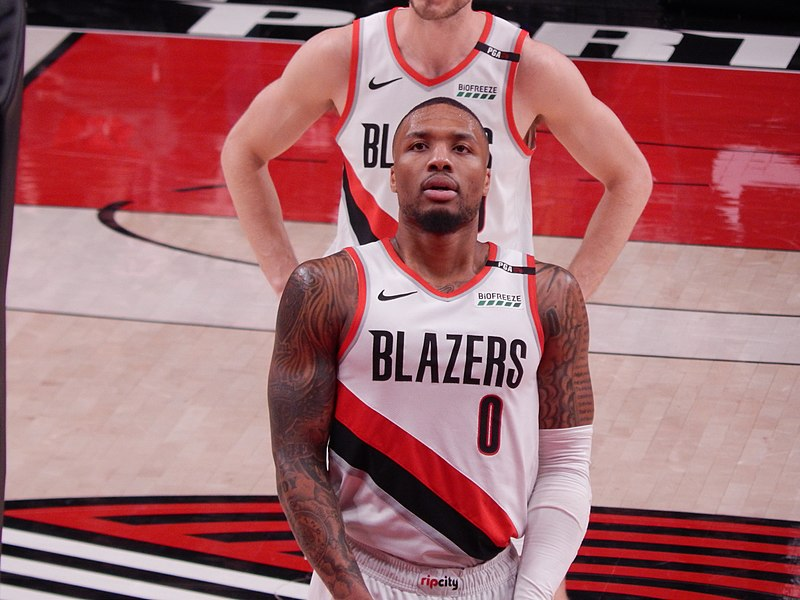 px Damian Lillard against the Cleveland Cavaliers