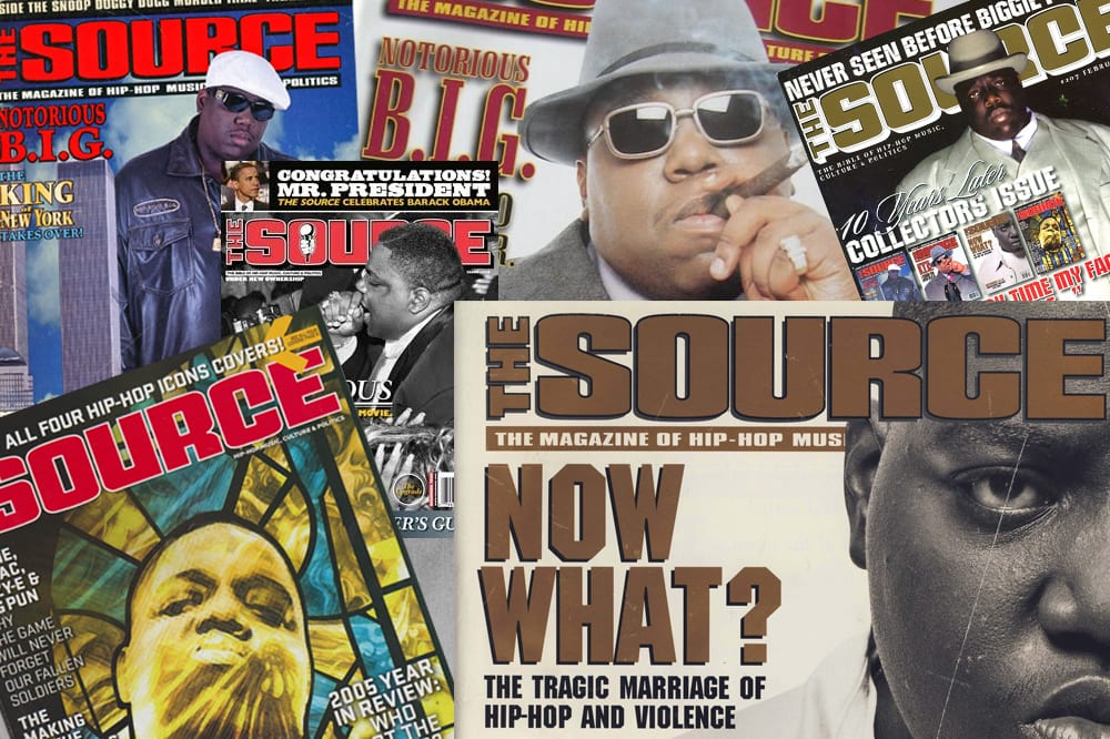 biggie the source magazine covers