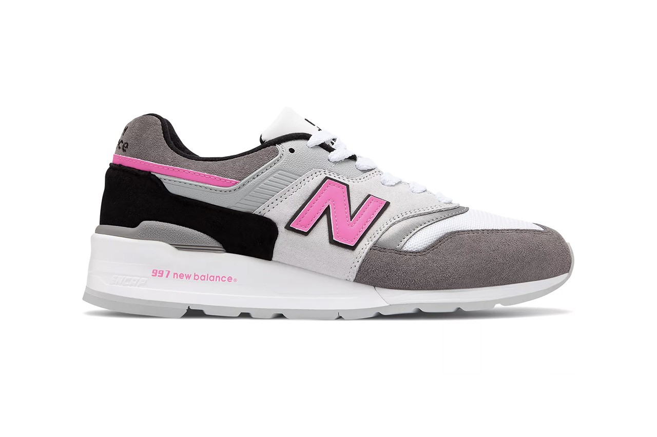 new balance  made in usa grey with pink