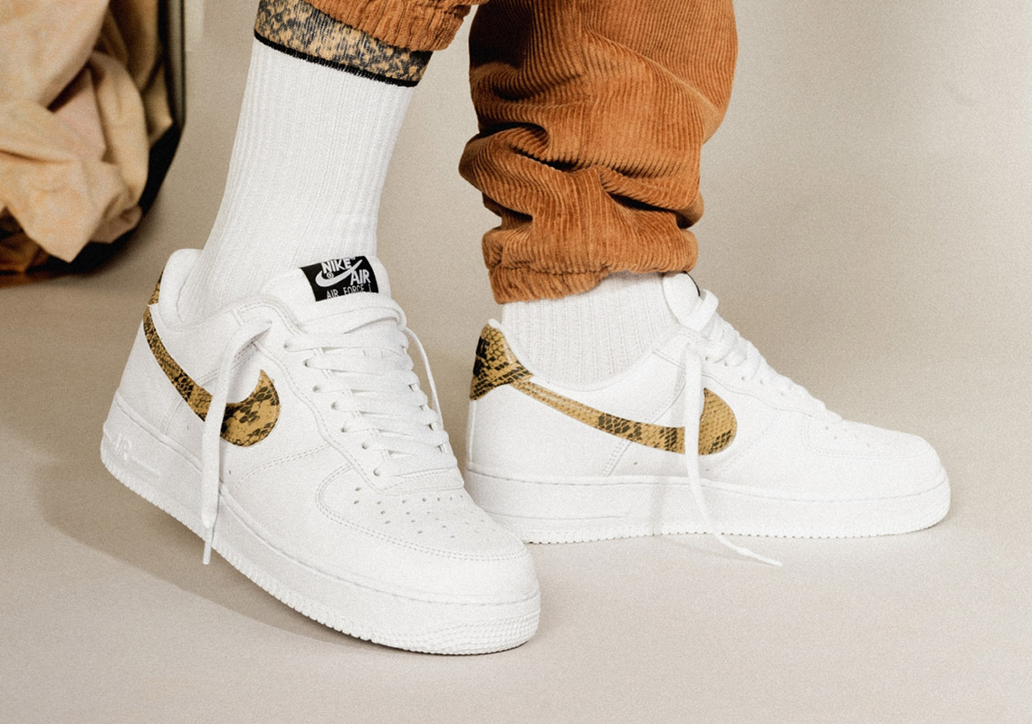 """87d944db6727c Nike's 1996 Asia-Exclusive Air Force 1 """"Ivory Snake"""" Is Back on the Market"""