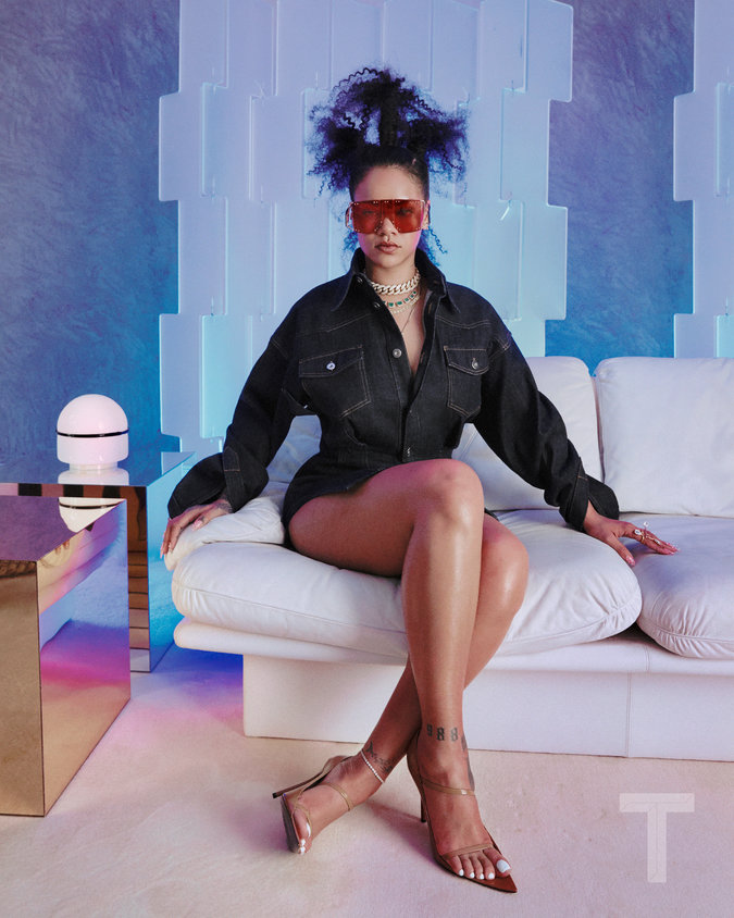 rihanna t magazine interview fenty fashion label r album