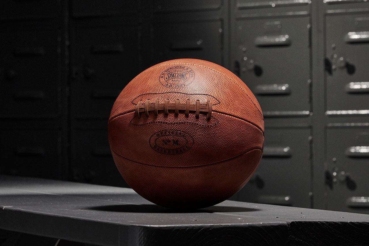 spalding  anniversary og horween leather basketball