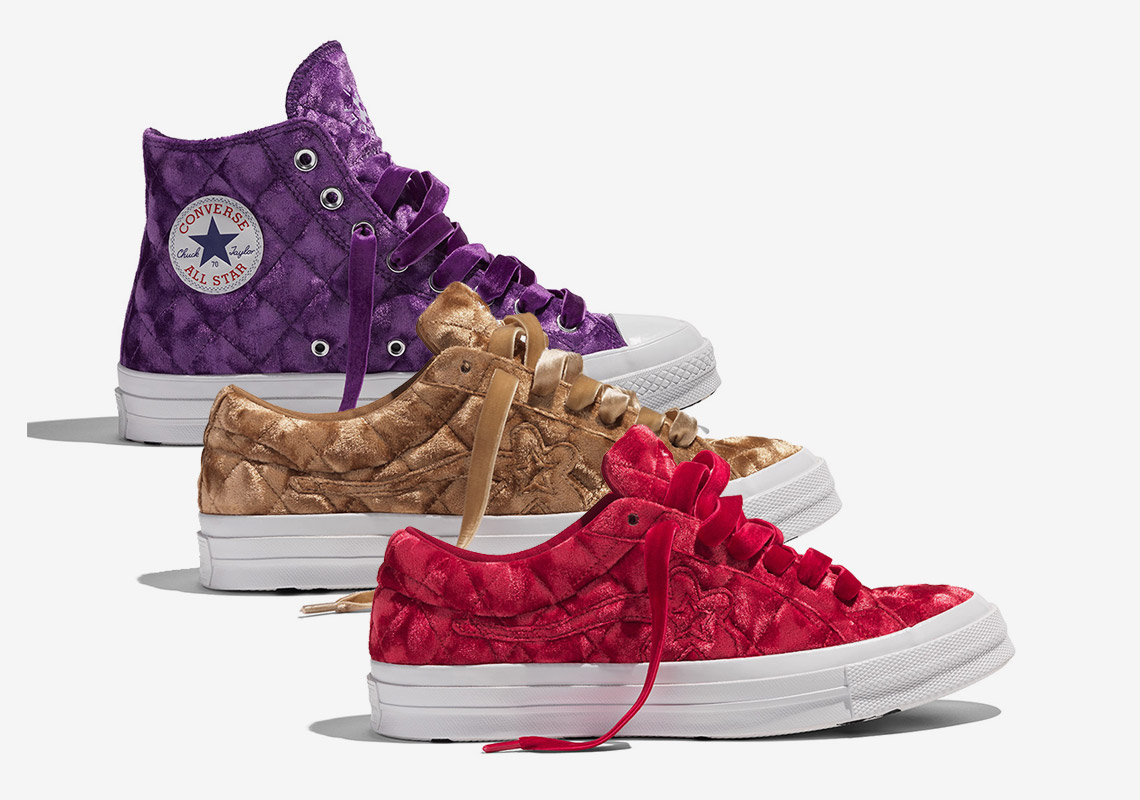 tyler the creator golf le fleur converse quilted velvet pack