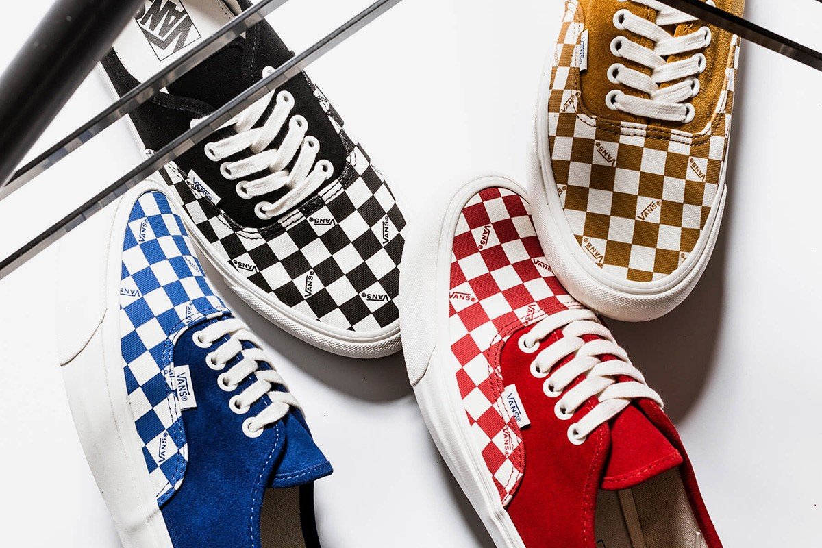 vans vault og authentic lx checkerboard collection