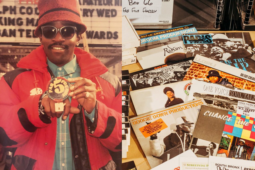 yo mtv raps fab  freddy hip hop archive display harlem schomburg center