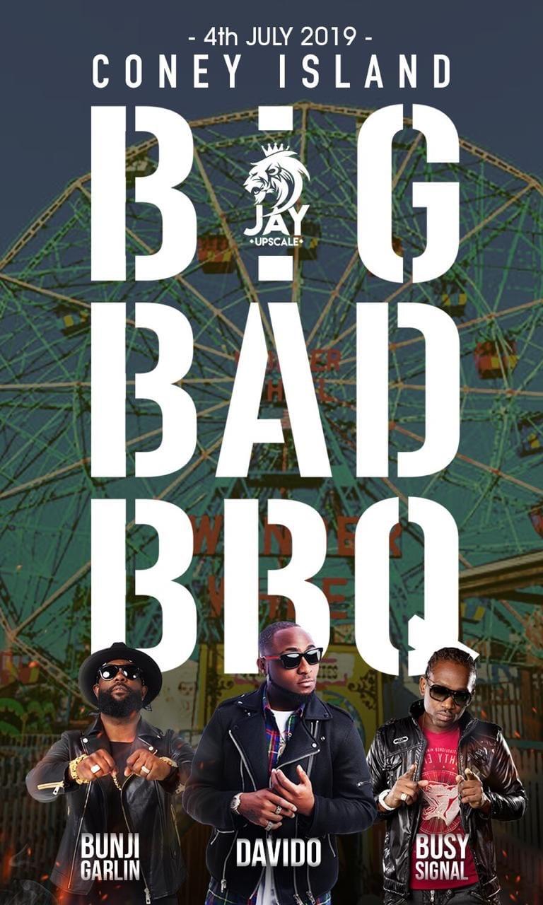 Davido, Bunji Garlin, Busy Signal to Perform for 4th of July Big Bad BBQ