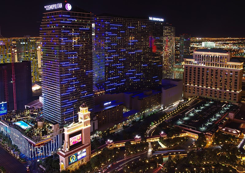 px The Cosmopolitan Hotel and Casino Las Vegas at night
