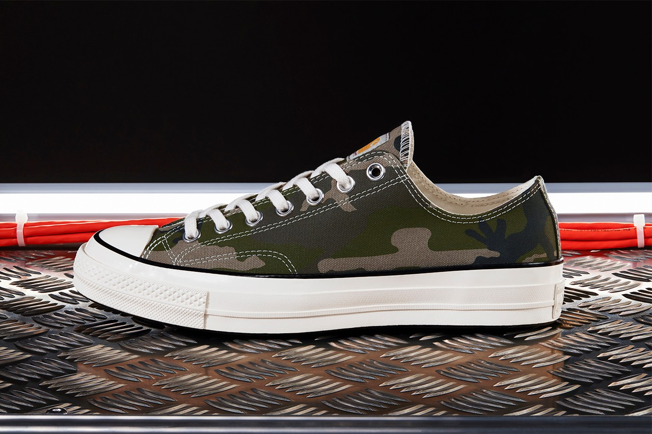 free shipping 10175 61e2e Carhartt WIP Goes For Militia Vibes With New Converse Chuck ...