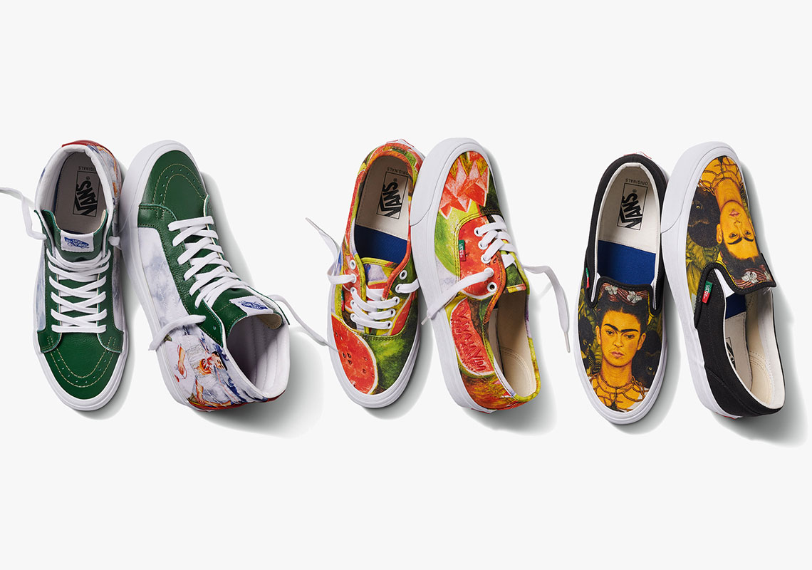 frida kahlo vans vault footwear collection