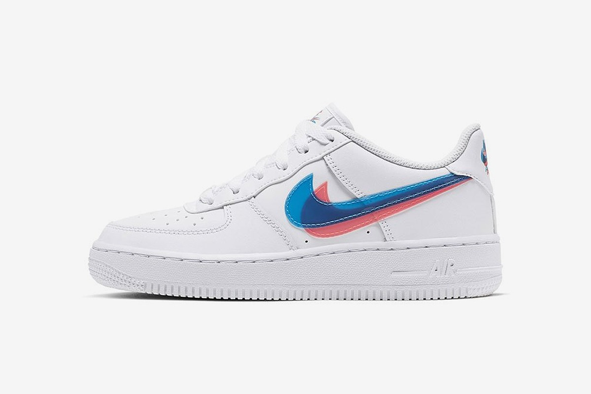 f334c0e1f See it in 3D: Nike Adds Anaglyphic Alterations to the Classic Air Force 1