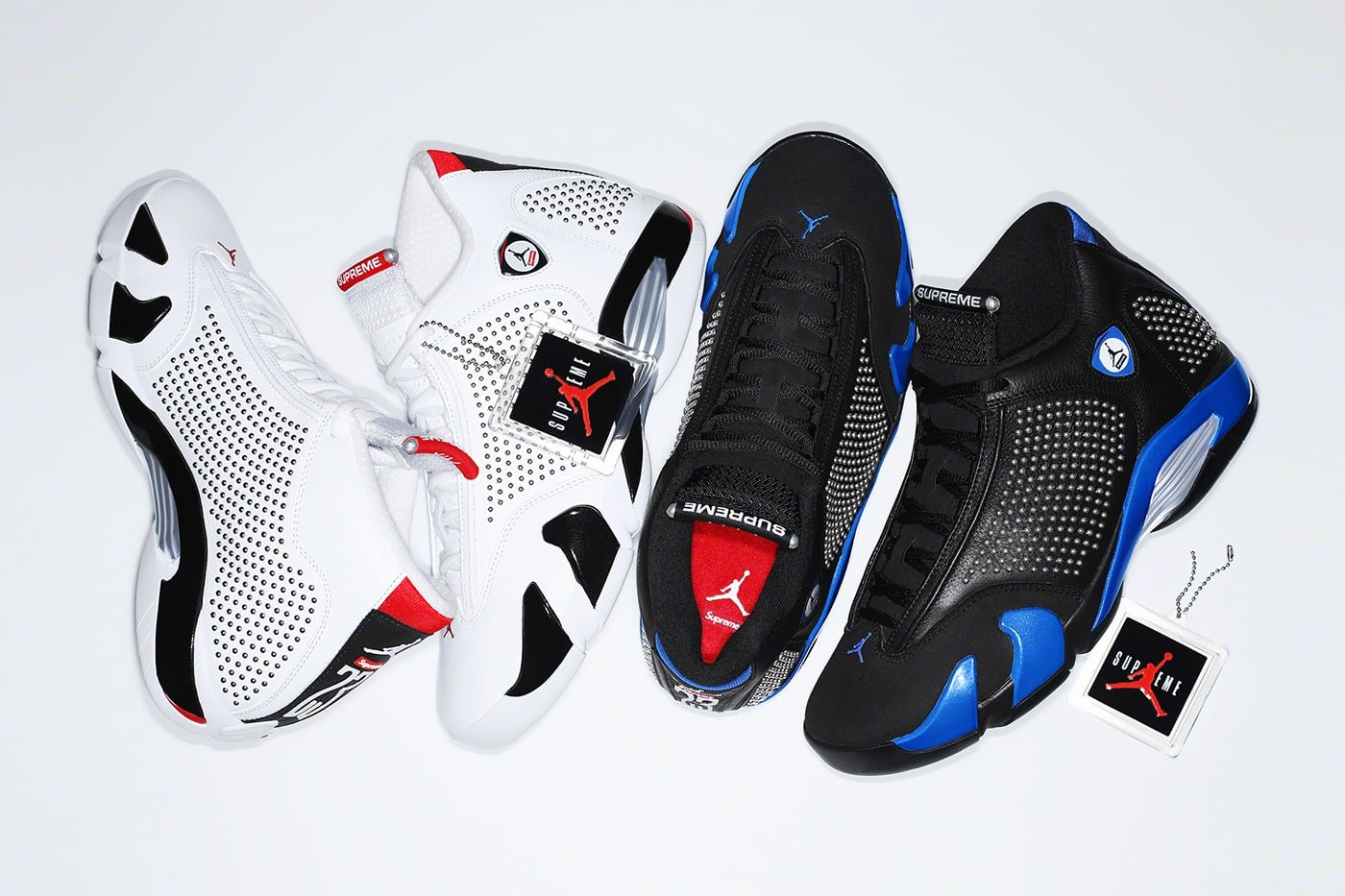 new product b6f2f 1c664 An Official Look at the Supreme x Air Jordan 14 Collab Is Here