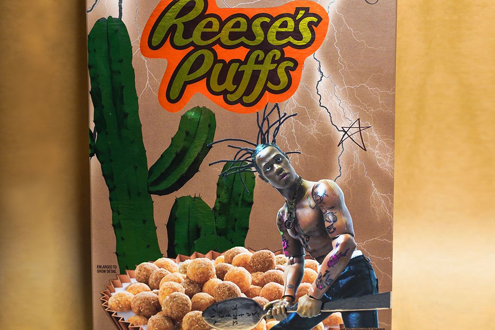 travis scott general mills reeses puffs cereal collaboration