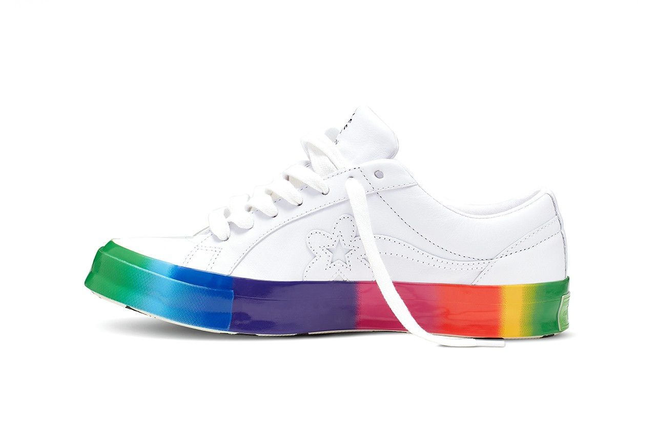 See Tyler The Creator S Pride Inspired Golf Le Fleur X Converse Shoe
