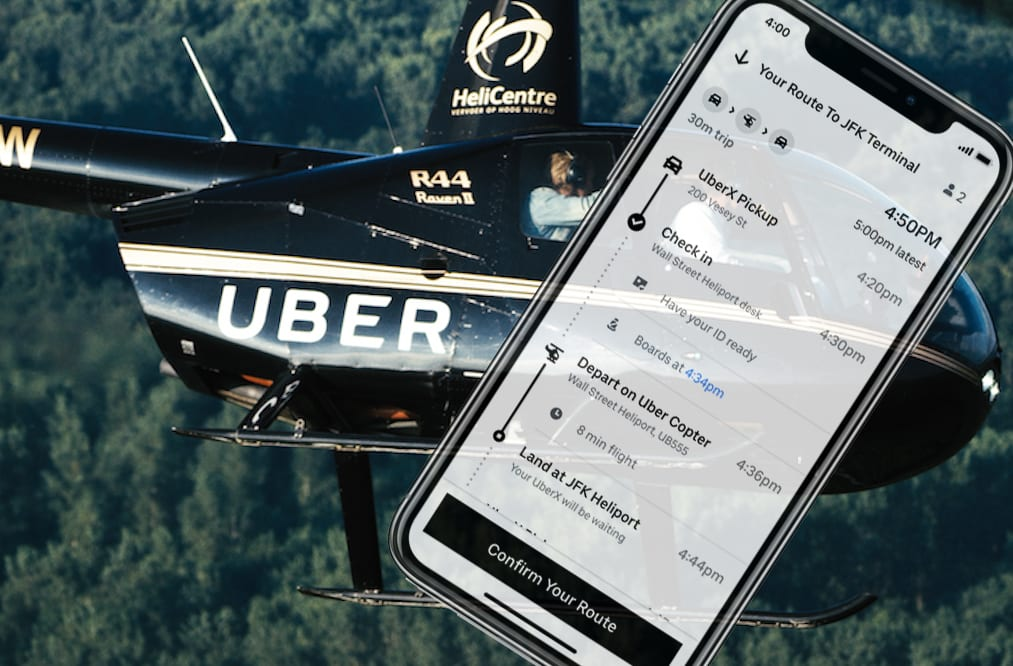 Image result for Uber helicopter