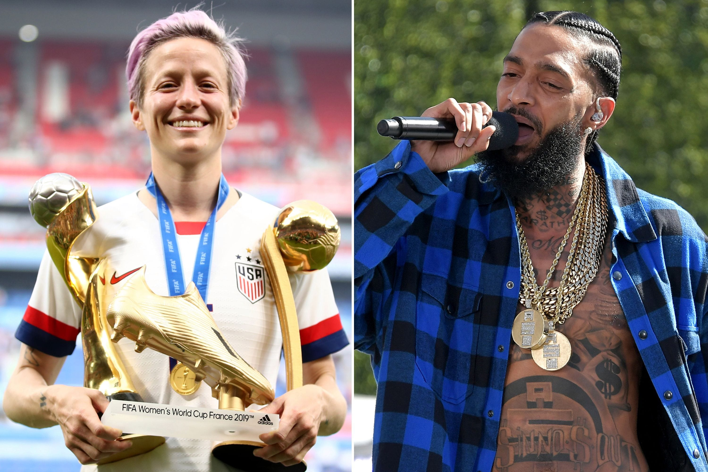 Megan Rapinoe Celebrates World Cup Soccer Win With Nipsey Hussle Quote