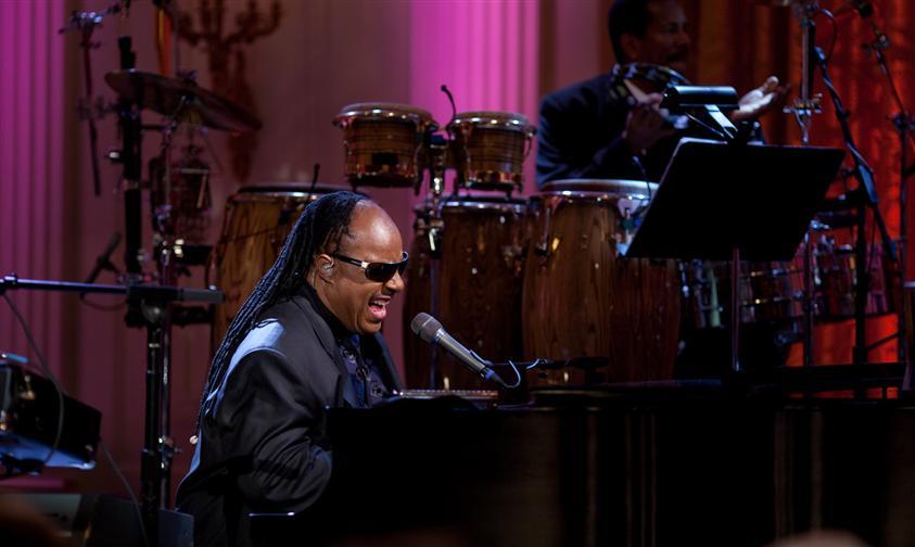 Stevie Wonder performs