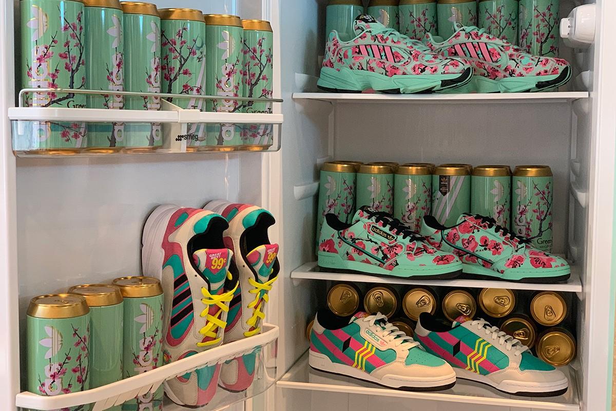 adidas originals arizona iced tea continental  yung  collection