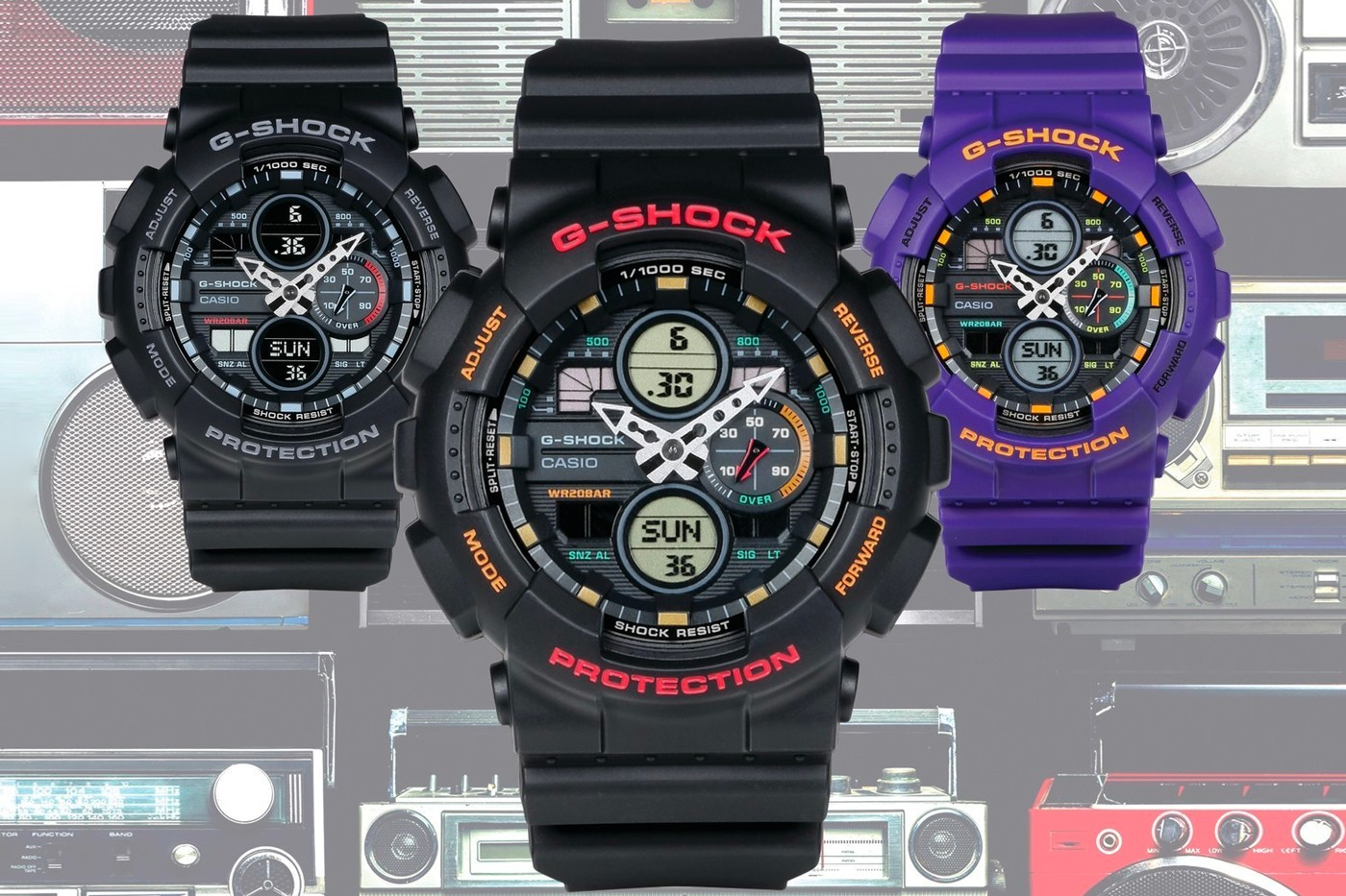 87efe3f482 G-SHOCK Looks to the '90s Boombox Era For Its Latest GA-140 Series