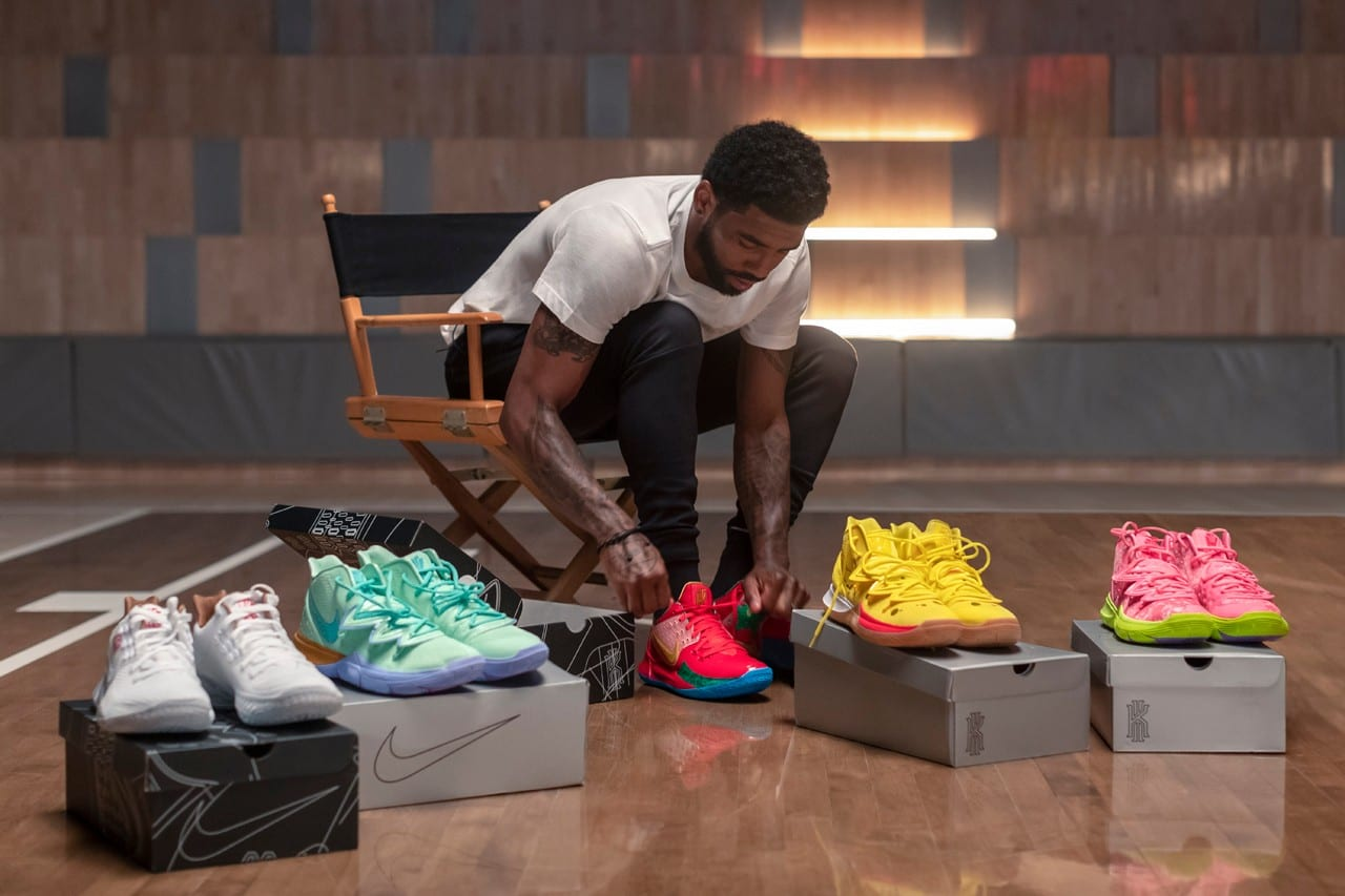 kyrie irving nike spongebob squarepants collaboration