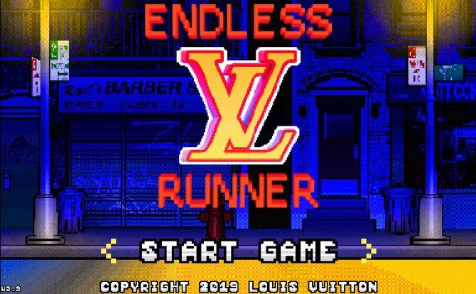 louis vuitton virgil abloh endless runner  bit video game