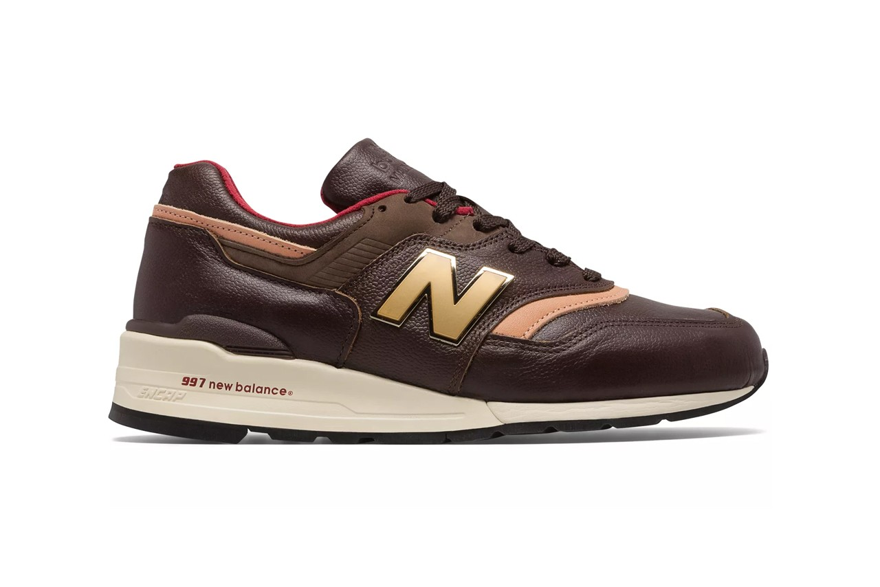 new balance made in us  brown with tan