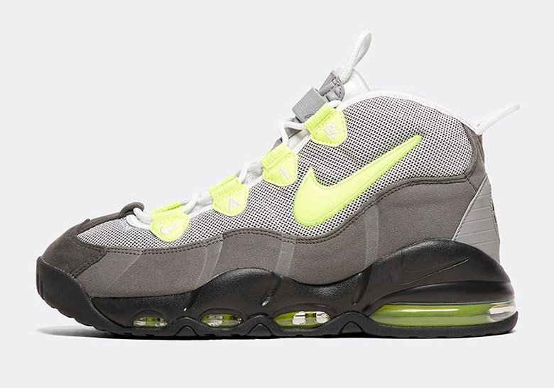 110910998383a Nike Mixes Up the Classics With This Neon 95-Inspired Air Max Uptempo