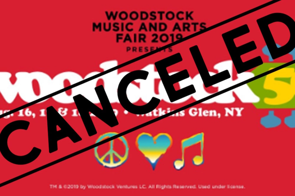 woodstock  is canceled