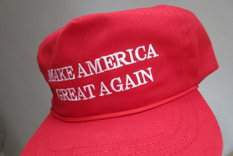 HK fans item the red cap hat cotton white words Make America Great Again label made in USA CF headwear April  IX