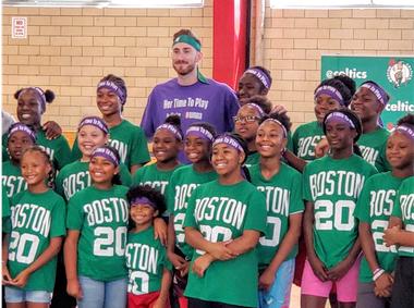 Gordon Hayward Hosts All-Girls Basketball Clinic in Boston