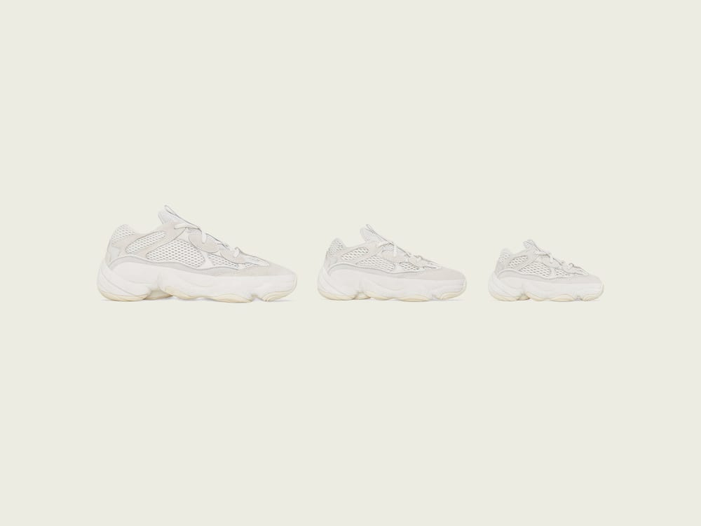"Kanye West Keeps it Clean With the adidas YEEZY 500 ""Bone White"""