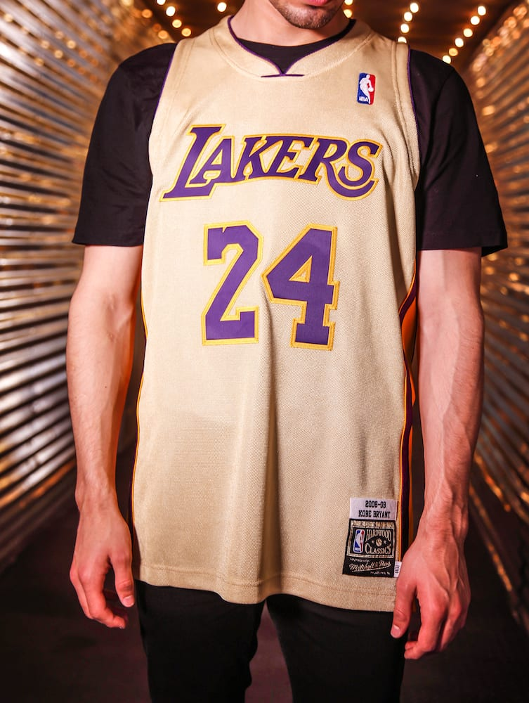 classic fit 4693b e86e5 Mitchell & Ness Drop a Gold 08–09 Lakers Jersey For 'Kobe ...