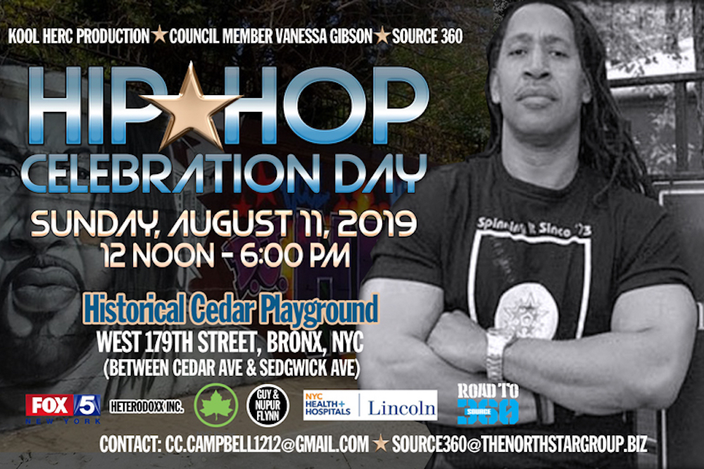 road to source kool herc hip hop celebration day cedar playground