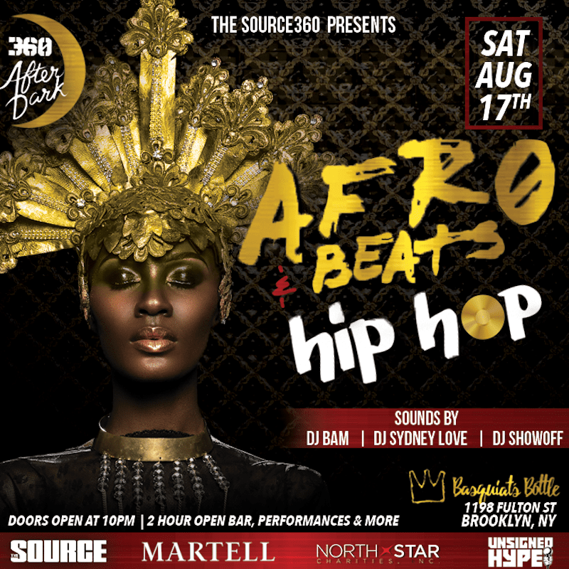 source after dark afro beats hip hop party