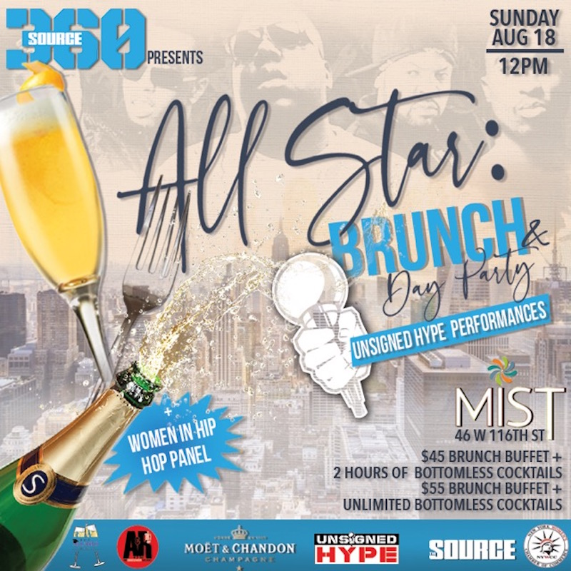 source all star brunch day party unsigned hype women in hip hop panel