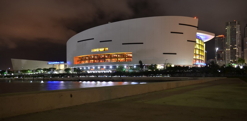 American Airlines Arena night cropped