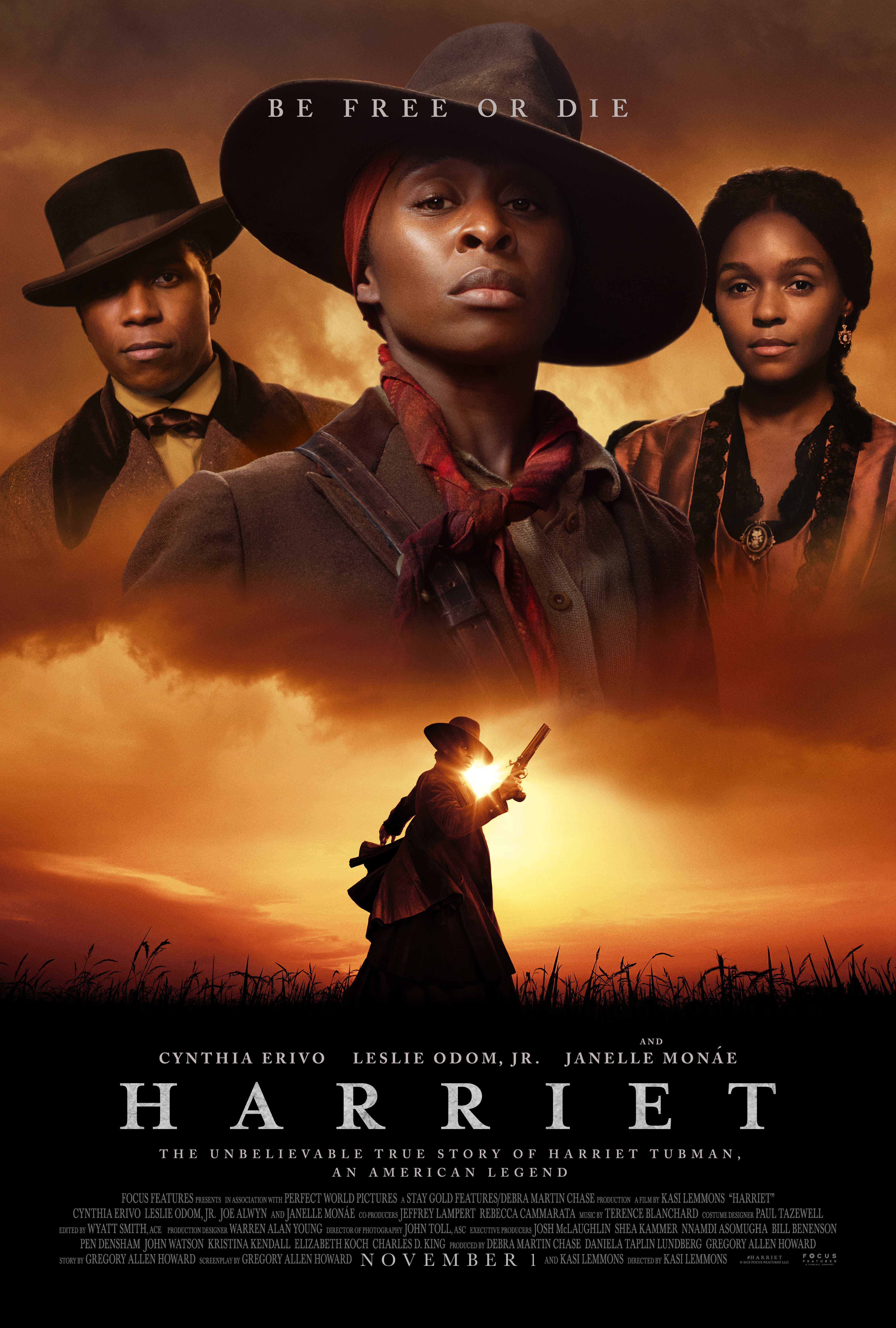 """New """"Harriet"""" Movie Poster Explains Her Life In a Nutshell """" Be Free Or Die"""""""