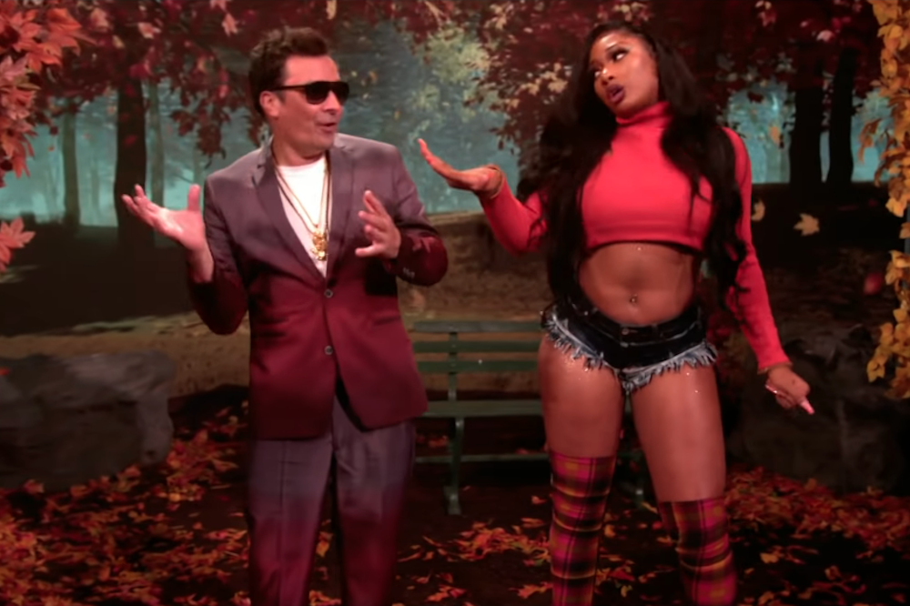 megan thee stallion jimmy fallon hot girl fall music video